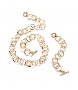 Bronzový náhrdelník v zlatom prevedení