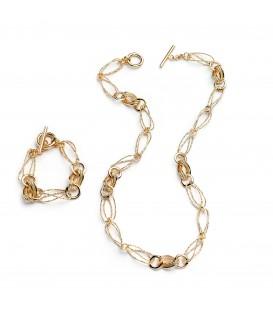 Bronzový náhrdelník v zlatom prevedení 74cm